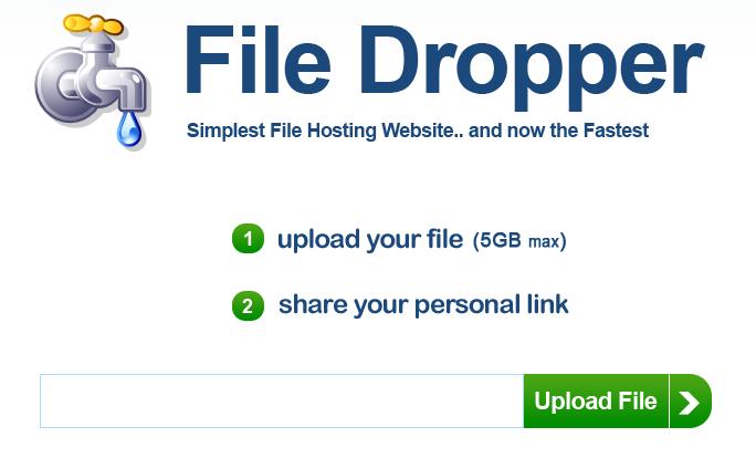 filedropper slanje velikih dokumenata