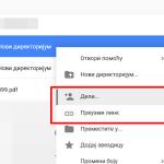 Kako da podelite link ka folderu iz Gugl diska?