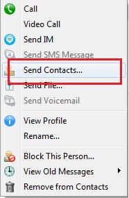 poslati kontakte preko skajpa1 Nekoliko trikova za korišćenje skajpa