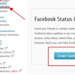 Napravite lažni Facebook status