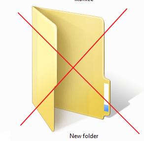 zuti folder ikonica