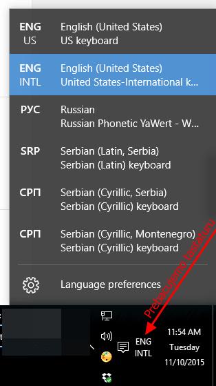 prebacujemo tastaturu