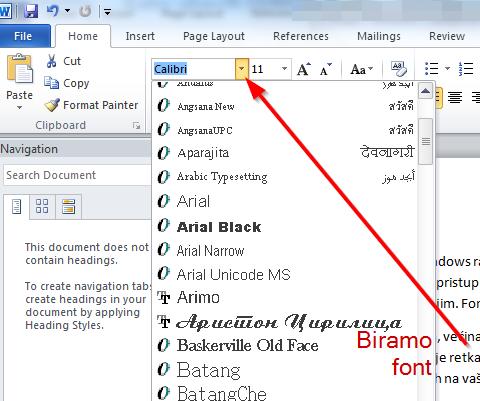 Kako da ubacite i koristite nove ćirilične fontove u Windowsu?
