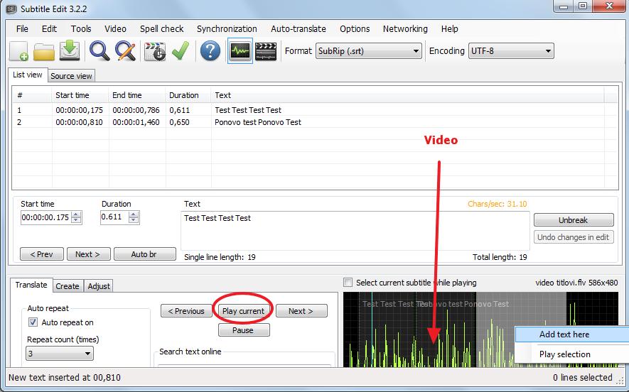 subtitle edit - program za titlove