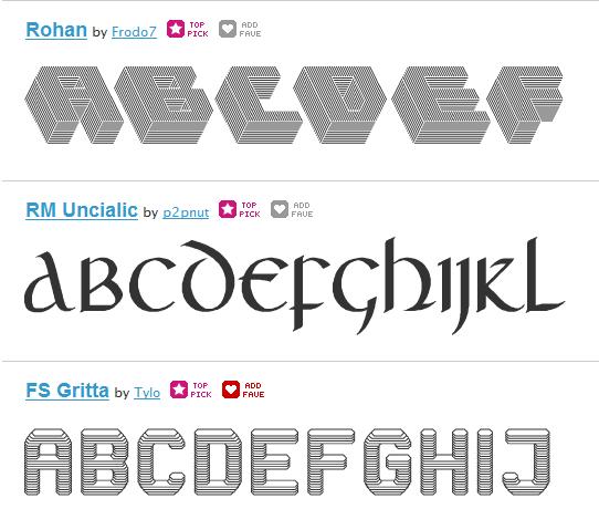 kolekcije fontova