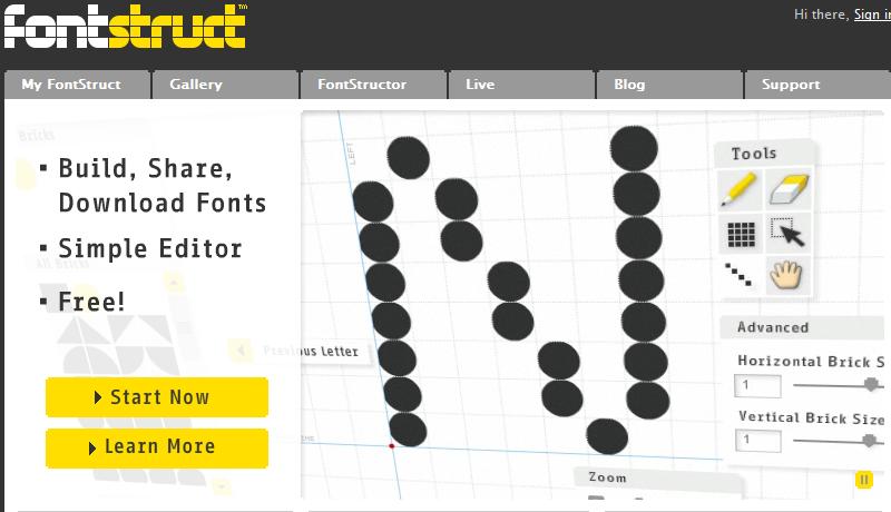 Napravite sopstveni font na sajtu FontStruct