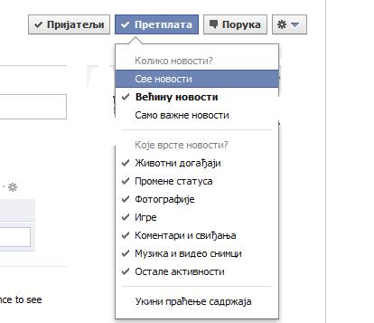 pretplata facebook