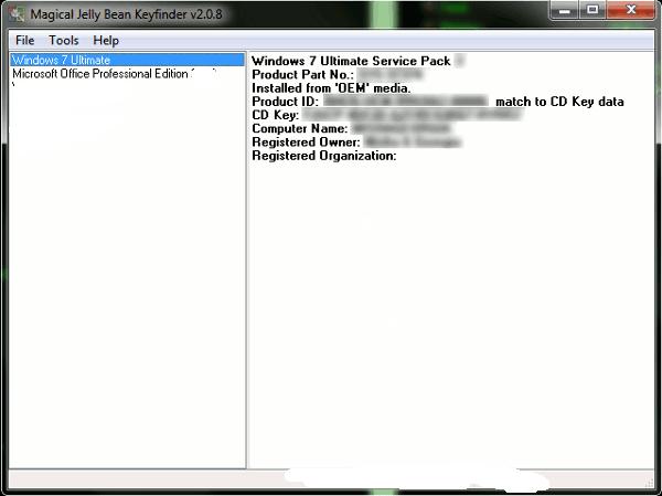Povratite aktivacioni ključ za Windows programe