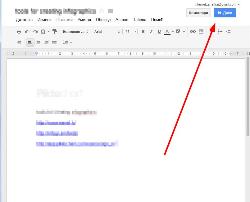 Grupni rad na Google dokumentima