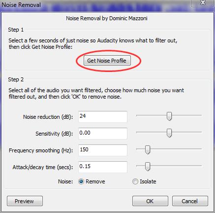 Noise Removal 2012 05 13 20 35 43 Audacity   Program za snimanje i obradu zvuka