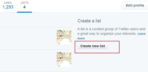 napravi listu na tviteru