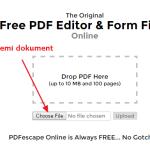 Kako vršiti izmene na PDF dokumentu pomoću PDFescape-a?