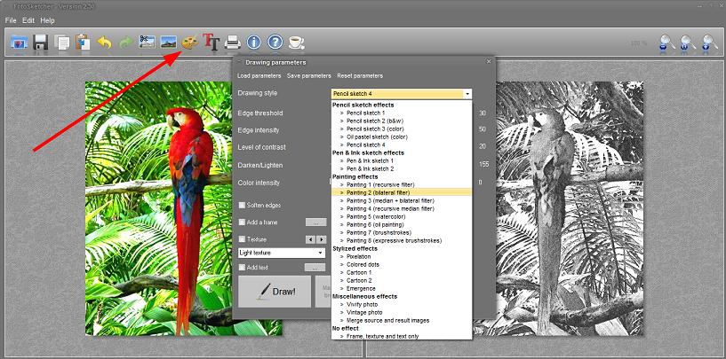 Programi za pretvaranje slike u crtež