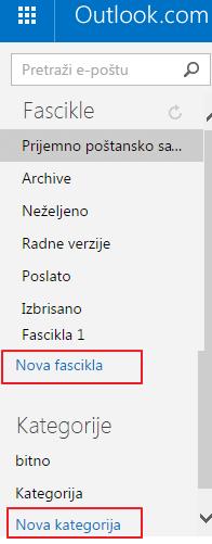 nova fascikla ili nova kategorija