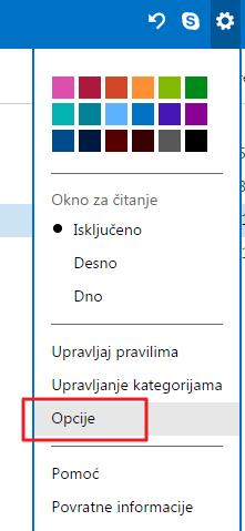 opcije kategorije