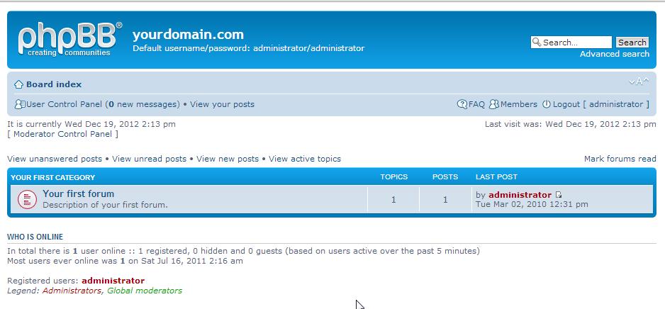phpbb napraviti forum