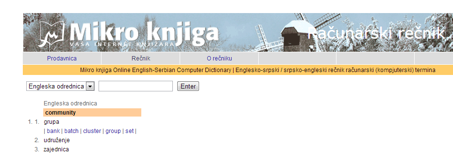 Rečnik za prevođenje računarskih termina sa engleskog na srpski