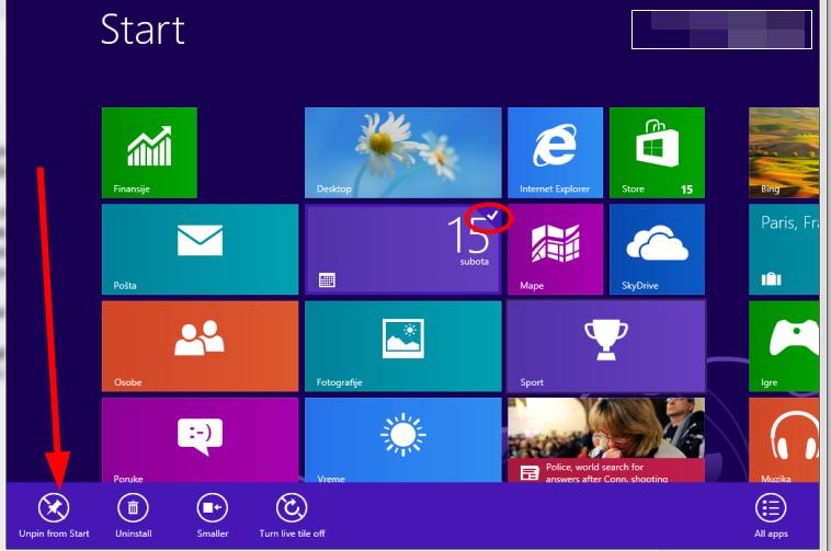 Uputstvo za prilagođavanje početnog ekrana u Windows 8