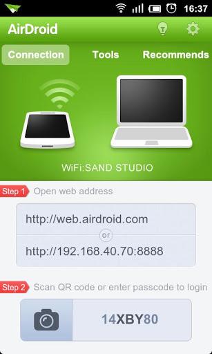 Bežično povezivanje kompjutera i Android uređaja. Omogućava da delite podatke, kopirate fajlove i druge podatke sa telefona na računar i obrnuto.