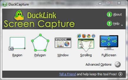 DuckCapture - slikati ekran monitora