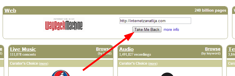 Arhive.org – arhiva starih sajtova, knjiga i muzike