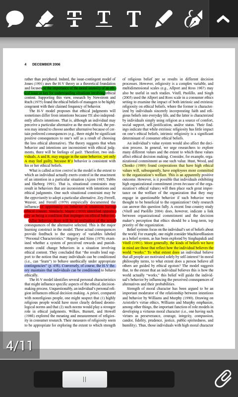 podvlacenje teksta android pdf