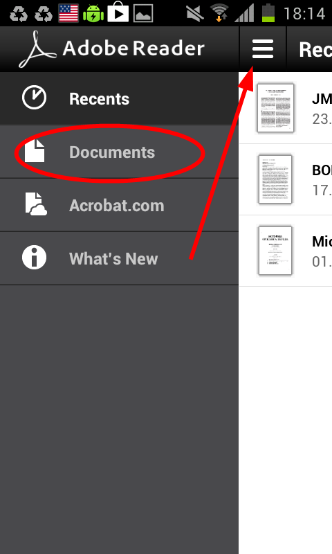 svi dokumenti android pdf