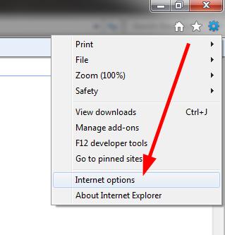 internet options IE