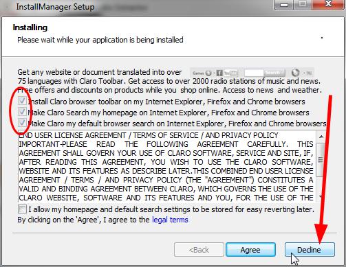 ne instalirajte toolbar