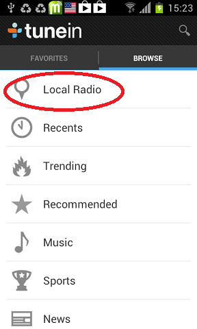 lokalne radio stanice android
