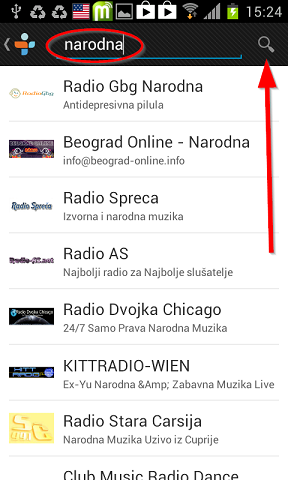 pretraga radio stanica tunein