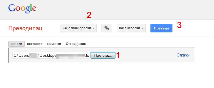 odabir jezika
