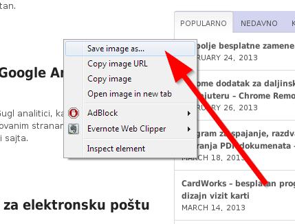sacuvati sliku web screenshots