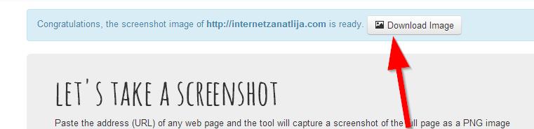 skinut sliku web screenshots na racunar
