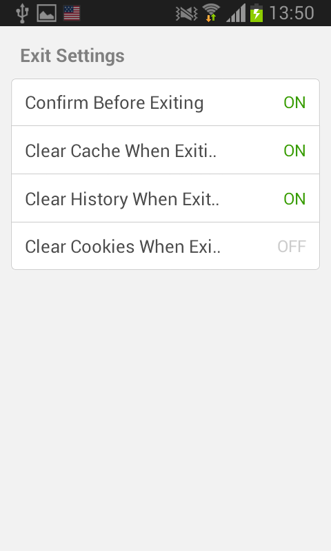 dolphin android exit settings