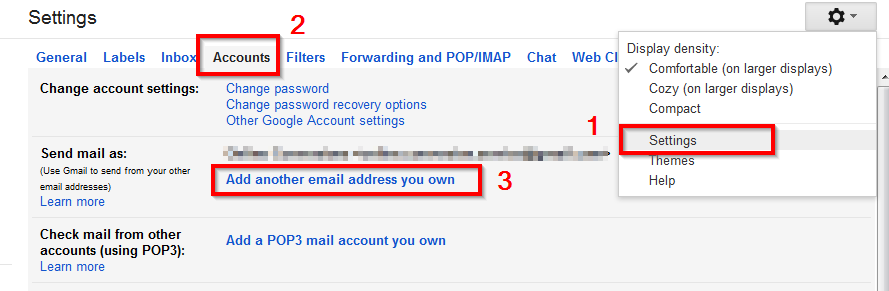 gmail add another email address you own