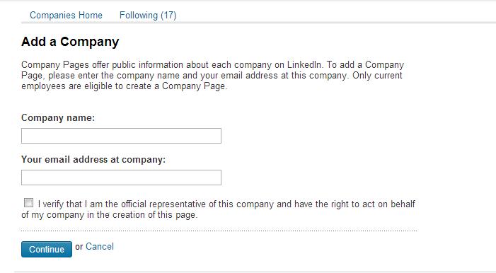 napravite kompanijsku stranicu