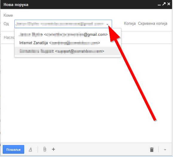 vrste mejlova