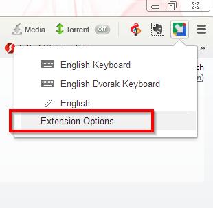 Chrome dodatak za kucanje na više jezika