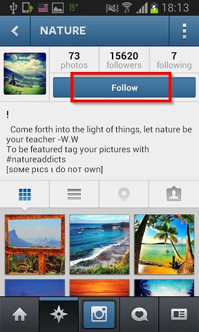 pracenje profile instagram