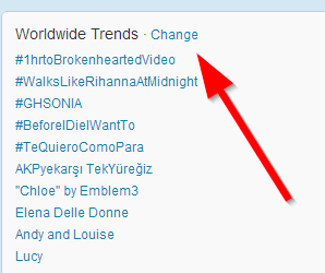 promeni tviter trendove