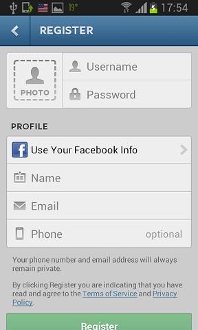 registracija instagram naloga