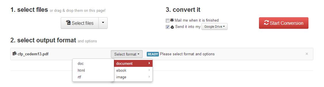 koraci za onlajn konverziju