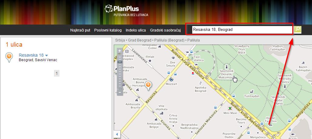 Pronađite koji gradski prevoz  ide do određenog odredišta (Beograd, Novi Sad, Niš)
