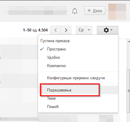 gmail podesavanja