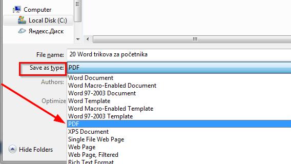 sacuvati kao pdf format