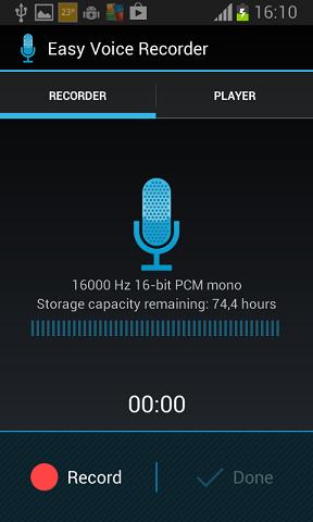snimac zvuka android