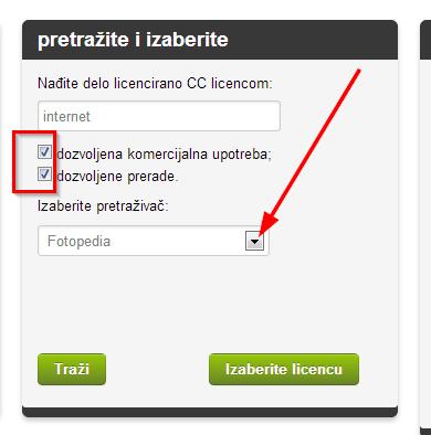 trazi cc licence