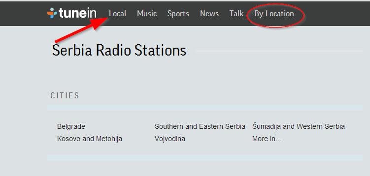 tune in onlajn radio stanice