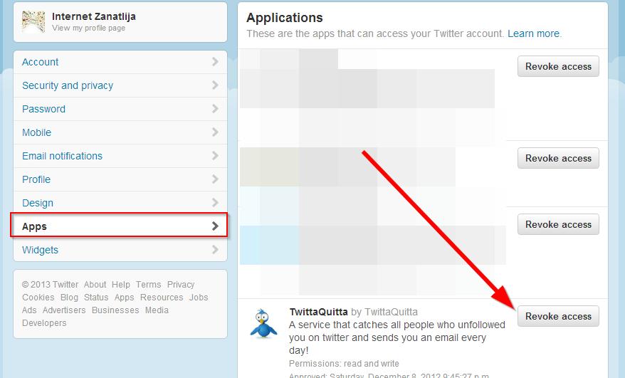 aplikacije u tviter nalogu